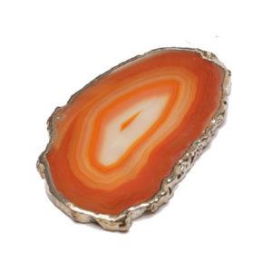 Orange Agate-Slice