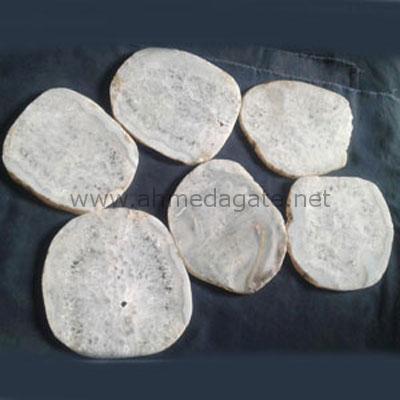 White Agate Slice
