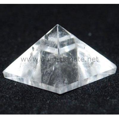 Clear Crystal Quartz Pyramid