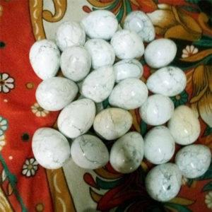 Howlite Gemstone-Eggs