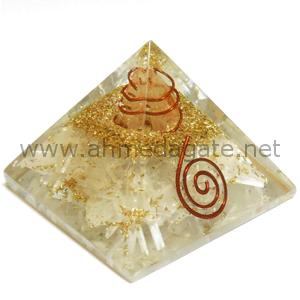Selenite Orgone Pyramid