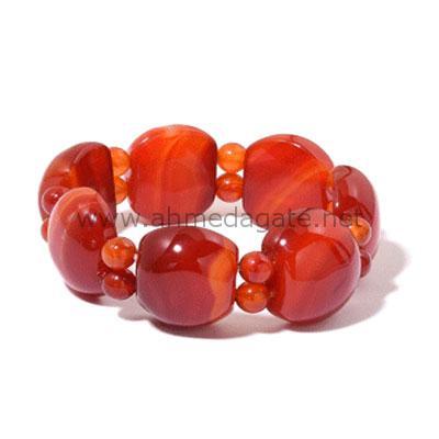 Red Agate-Bracelet