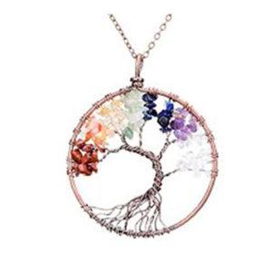 Agate Tree Pendant