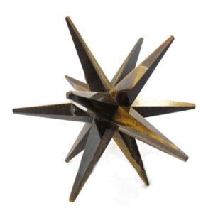 12 Point Tiger-eye Merkaba-Star