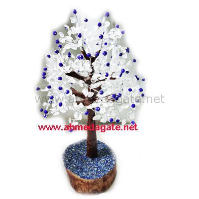 Crystal-Blue Quartz Tree