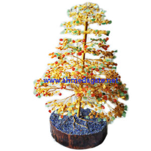Natural Citrine-Green Stone Tree