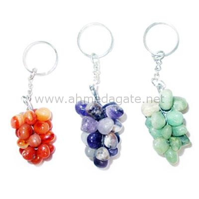 Agate Grapes Keychain
