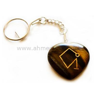 Engraved Agate Keychain