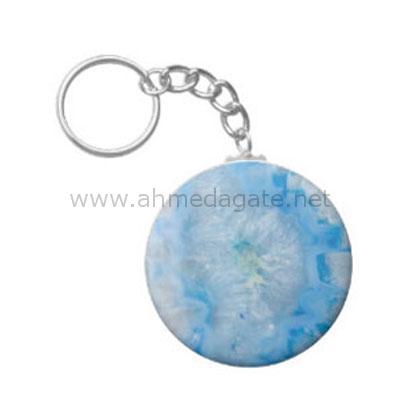 Blue-Crystal-Agate-Keychain