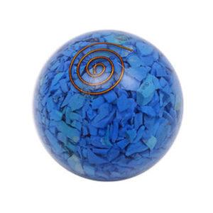 Aqua Blue Quartz Orgone Ball