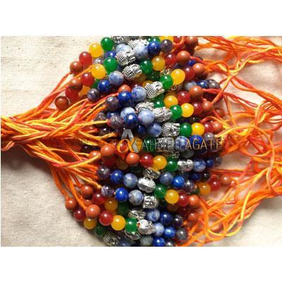 7 Chakra Crystal Beads Rakhi