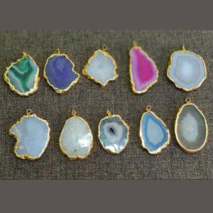 Agate Baby Slice Pendants
