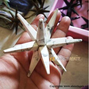 Howlite-Merkaba-Star