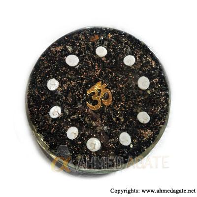 Orgonite-Black-Tourmuline-Coaster