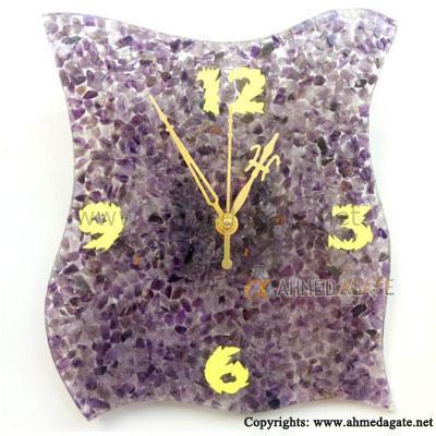Amethyst Agate Clock