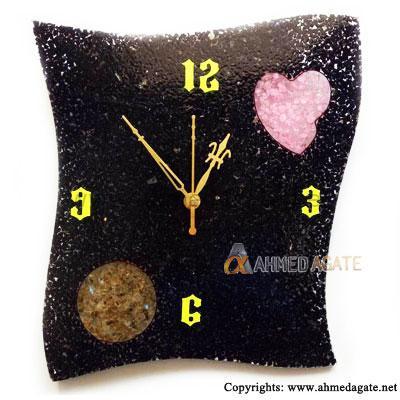 Black Agate Clock